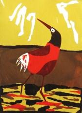 zeefdruk vrije vogel 3
